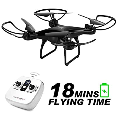 ALLCACA S28W RC Drone 2.4Ghz 6-Axis Gyro 4CH Remote Control Quadcopter with Altitude Hold, 3D Flips, Headless Mode, One Key Return for Kids & Beginners (Without Camera) from allcaca