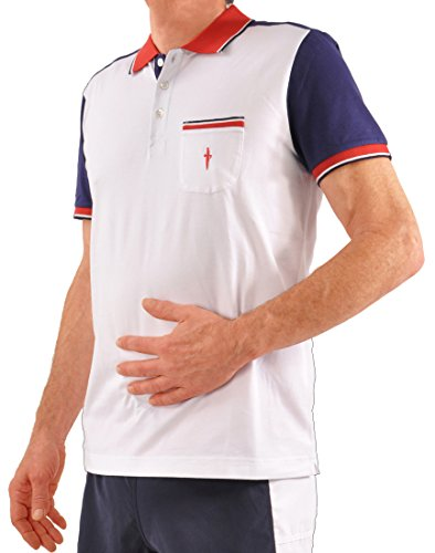Cesare Paciotti Filo di Scozia Cotton Short Sleeve Italian Golf/Polo Shirt - White XX-Large