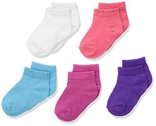 Hanes Toddler Girls' Ankle Socks 10-Pack, Assorted, 6/ 4T-5T Toddler Girls Socks