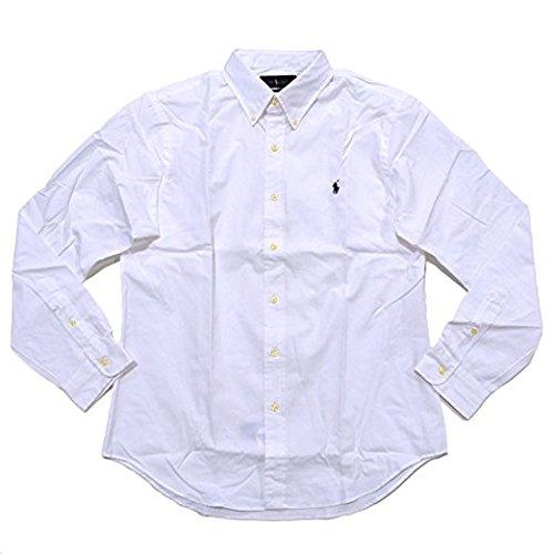 Polo Ralph Lauren Men Slim Fit Poplin Sport Shirt, White, XL (Ralph Lauren Sport)