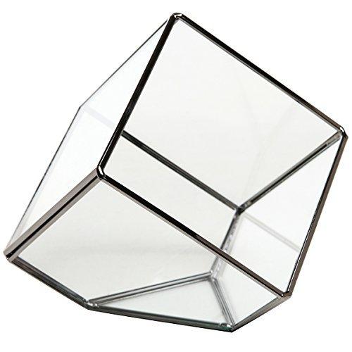Modern Artistic Clear Glass Cube Box Glass Plant Terrarium/Decorative Votive Candle, Tea Light Holder