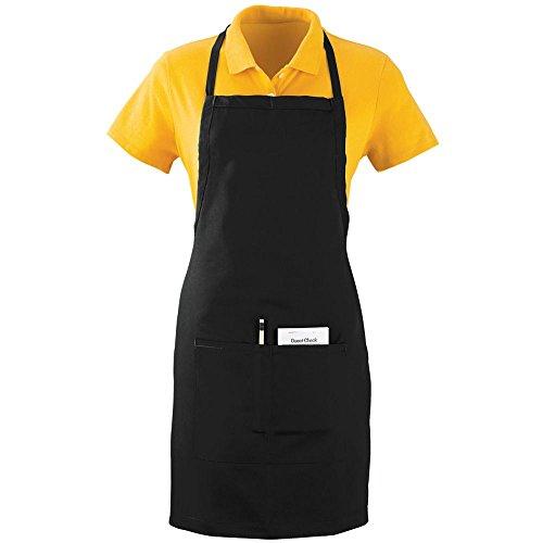 (Augusta Sportswear OVERSIZED WAITER APRON WITH POCKETS OS Black)