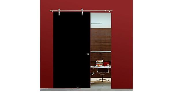 Correderas de cristal para puertas correderas de cristal puerta de VSG de alto brillo negro 775 x 2050 mm incluyendo Soft_Stop de acero inoxidable para puerta corredera de herrajes BV775BA: Amazon.es: Bricolaje