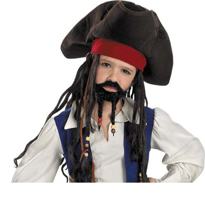 Child Deluxe Pirate Moustache Goatee