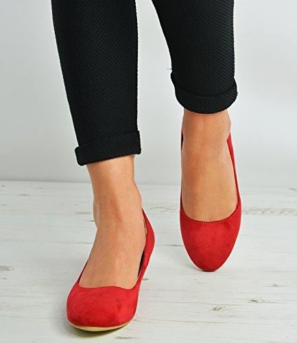 Cucu Fashion - Sandalias con cuña mujer Red