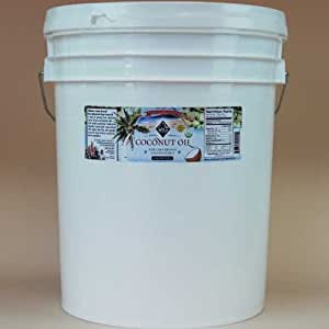 Coconut Oil, Virgin Cold Pressed, Certified Organic, 5 gallons
