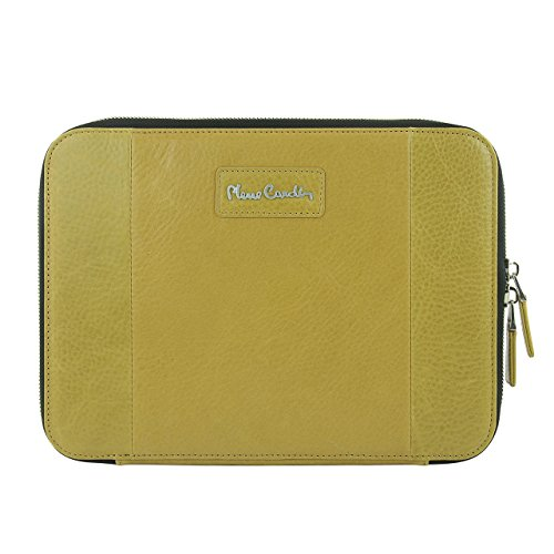 pierre-cardin-genuine-leather-wallet-card-cover-tablet-zipper-bag-case-for-apple-ipad-mini-4-yellow