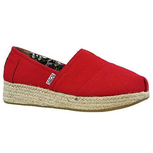 Ladies Skechers BOBS Memory Foam Comfort Canvas plimsolls Pumps Trainers Shoes Z49kjL
