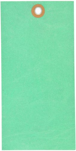 Tyvek G14081C Empty-Eyelet Shipping Blank Tag, Spunbonded Olefin, 6-1/4'' Height x 3-1/8'' Width, Green (Case of 100) by Tyvek