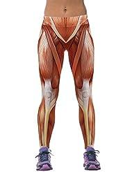 Ninimour-Womens High Waist Digital Print Slim Fit Tight Leggings