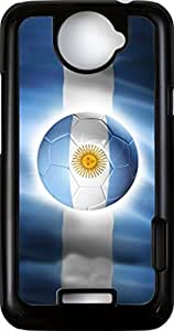 Rikki KnightTM Brazil World Cup 2014 Argentina Team Football Soccer Flag - Black HTC ONE X Case Cover for HTC ONE X by ruishername