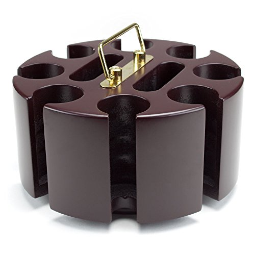- 200 ct. Rotating Poker Chip Carousel | 8 Denomination Clay Chip Storage for Blackjack, Las Vegas Craps, Texas Hold'em, and Omaha, Plus Two-Deck Playing Card Holders | Casino Game & Gambling Accessory
