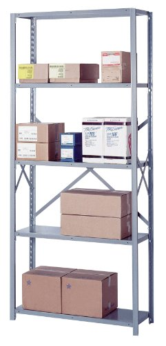 Lyon DD8007SM 8000 Series Open Shelving Starter with 5 Medium Duty Shelves, 36