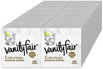 Napkins: Vanity Fair Entertain Beverage Napkins