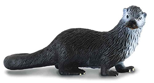 CollectA Woodlands Common River Otter Miniature Toy Figure - Authentic Hand Painted Model (Webbed Feet)