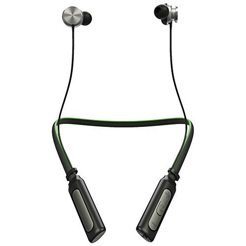 (Wireless Bluetooth Headphones, ONYBTE V4.1 Bluetooth Headphones Neckband, Supreme Stereo Noise Cancelling in-Ear Magnetic Earbuds,Sweatproof,Longlasting Standby Up to 320 Hours(Green))