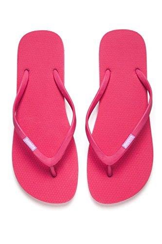 Bumpers Women's Slim Natural Rubber Flip Flop (EU 39-40 \ 9-10 US \ 26.6 CM, PInk)