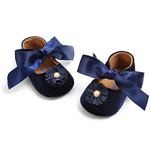Prewalker Semelle Souple Premiers Marcheurs dark Enfants Bandage Plotnewborn Baby Chaussures Anti slip Velours Blue qIFvXw