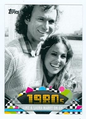 American Pie Card (Luke and Laura get Married trading card (General Hospital) 2011 Topps American Pie #142)