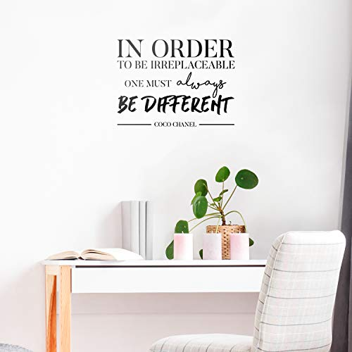 6343fbab26a2 Vinyl Wall Art Decal - in Order to Be Irreplaceable One Must Be Different -  16