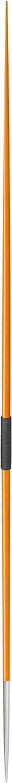 Track Outlet Mens 800 Gram 50 Meter Javelin Orange