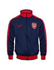Arsenal FC Official Soccer Gift Boys Retro Track Top Jacket Navy 12-13 Years XLB