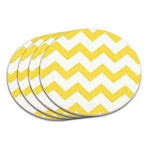 Chevrons Yellow Coaster Set