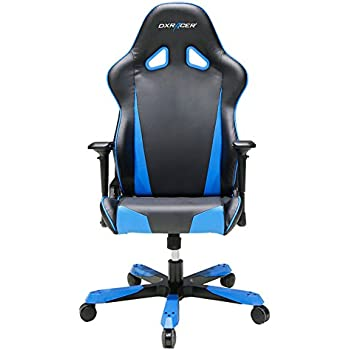 DXRacer Tank Series DOH/TS29/NB Big and Tall Chair Racing Bucket Seat Office Chair Gaming Chair Ergonomic Computer Chair eSports Desk Chair Executive Chair Furniture With Pillows (Black/Blue)