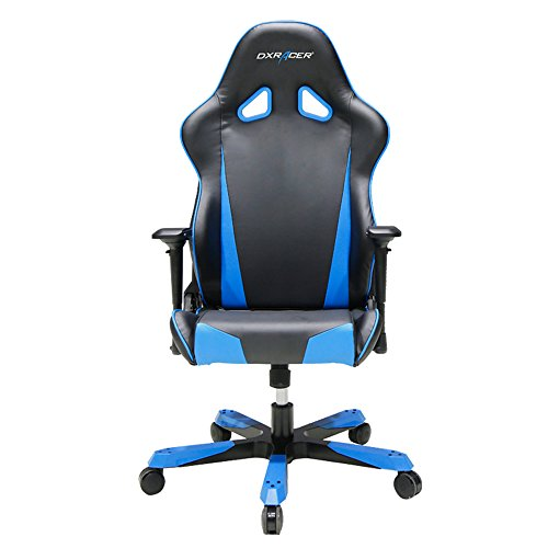 DXRacer Tank Series DOH/TS29/NB Big and Tall Chair Racing Bucket Seat Office Chair Gaming Chair Ergonomic Computer Chair eSports Desk Chair Executive Chair Furniture With Pillows (Black/Blue) Review