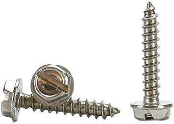 Hillman Hex Washer Slotted Drive Sheet Metal Screws Steel 6 x 3//8 L 100 per box
