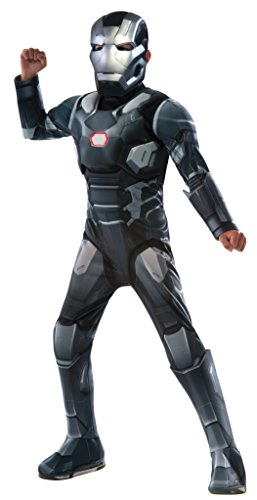 Captain America: Civil War Deluxe Little Boys Muscle Chest War Machine Costume (Up Little Kid Costume)