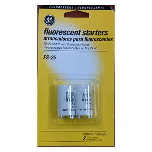 G E LIGHTING  64820 GE FS-25-C/TP Fluorescent Starter, 2-Pack (Fs25 Starter)