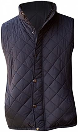 Shower proof Fabric Front Row Mens Diamond Quilted Gilet Body Warmer