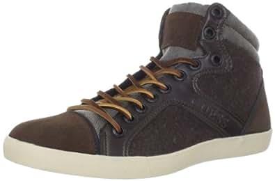 Guess Men's Justen Sneaker,Brown,7 M US