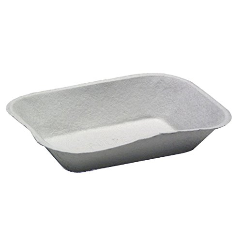 Pactiv Pulpex Paper Food Tray Natural Cream, 32 oz, 9.125'' Length x 6.875'' Width | 460/Case by Pactiv (Image #2)