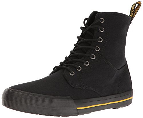 Dr. Martens Winsted, Stivali Unisex-Adulto Nero (Black 10 Oz Canvas And Black Cotton Binding 001)