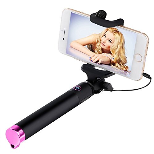 iphone accessories selfie stick wired iphone selfie stick for iphone 6 plus. Black Bedroom Furniture Sets. Home Design Ideas