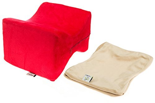 Buy Discount HUIERLAI Extra Cover & Memory Foam Knee Pillow by Med Sound Products - Leg Pillow Reduc...