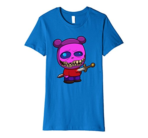 Womens Monster Halloween T-Shirt - Sword Gory Kids Monsters Tees Small Royal (Gory Halloween Outfits)