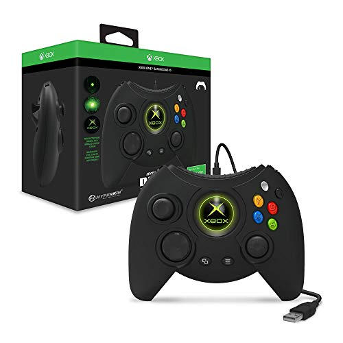 Hyperkin Duke Wired Controller for Xbox One/ Windows 10 PC (Black) – Officially Licensed by Xbox