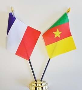 Francia y Camerún amistad banderín Celloexpress 25 cm