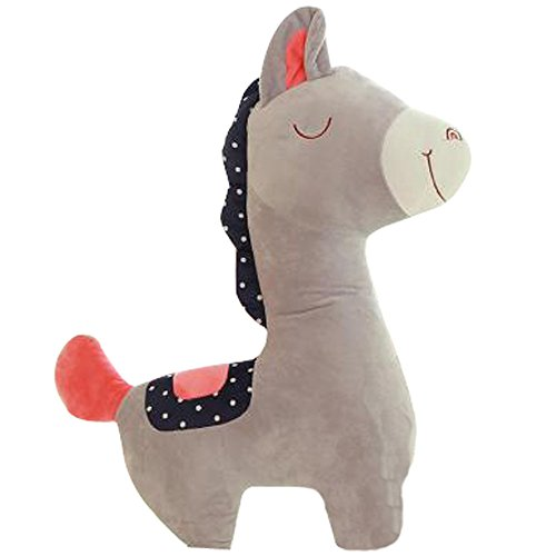 Valentine Dolls Plush Toys Wedding Pillow Grass Mud Horse GRAY