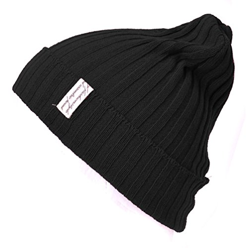 Estructura Beanie Acanalado Hombres Diseño Gorros Tramo Patrón negro Casualbox Sombrero Japonés pgf46qxw