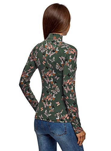 Women Basic Ultra 6943u cotone verde Oodji di Dolcevita BwZFqPS
