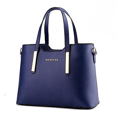 Women's PU Leather Shoulder Bags Top-Handle Handbag Tote Bag Simple Purse Fashion Cross Body Bag SILI