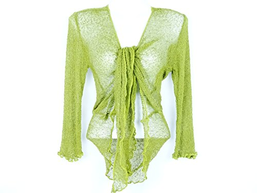 Bolero Grün Weste Damen Langarm Pullover Cardigan Cache C & # X153; UR Bolero Green
