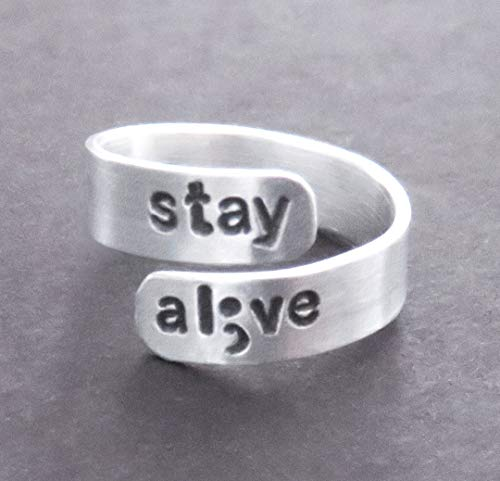 stay alive inspirational gift suicide awareness semicolon jewelry