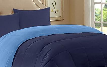 Trapunta Invernale Una Piazza E Mezza.Trapunta Una Piazza E Mezza Invernale Double Face 220x260 Azzurro Blu Piumone