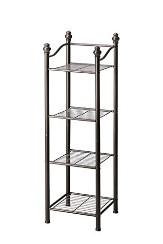 er Free Standing Sturdy Bathroom Storage Tower - Oil Rubbed Bronze Finish ()