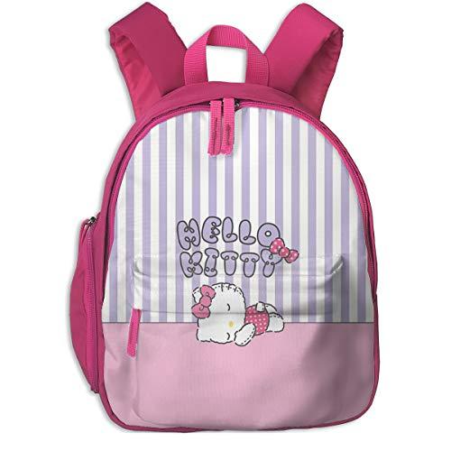 Hello Kitty Sleeping Print School Backpacks For Girls Boys Kids Elementary School Bags Bookbag Outdoor Daypack]()